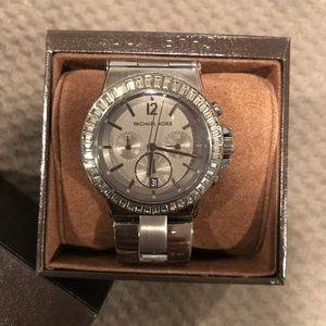 Gunmetal Michael Kors oversized watch.